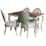 Dining Table set TG with chair Baroque Grey Finish